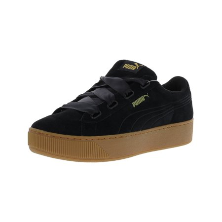 a5dda79d63dd Puma - Puma Women s Vikky Platform Ribbon Black   Leather Fashion Sneaker -  10M - Walmart.com