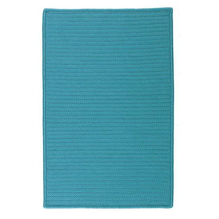 Colonial Mills Rug H049R024X036S Simply Home Solid - Turquoise 2 ft. x 3 ft. Braided Rug