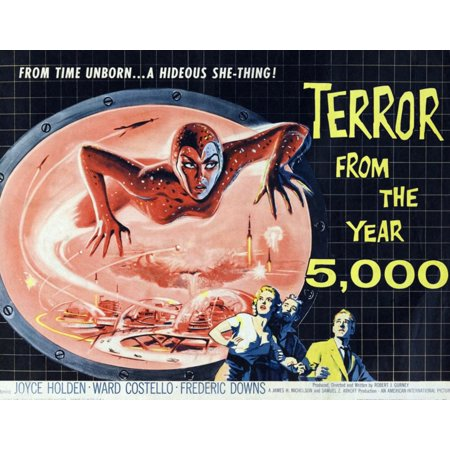 Terror From The Year Of 5000 Poster Art 1958 Movie Poster - Halloween 30 Years Of Terror Poster