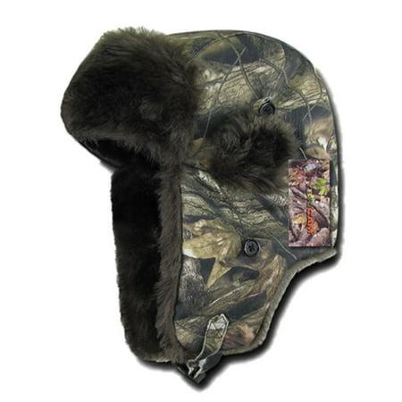 Camouflage Camo Aviator Bomber Faux Fur Winter Ski Trooper Trapper Ear Flap Hat-L/XL ()