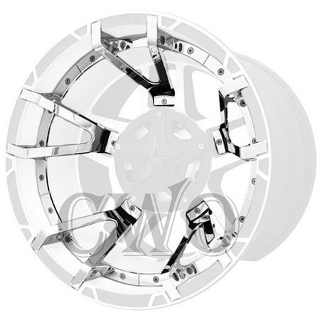 Chrome 40 Spoke (Chrome XD Series XD827 Rockstar 3 Split Spoke Insert For 22x12 Wheel )