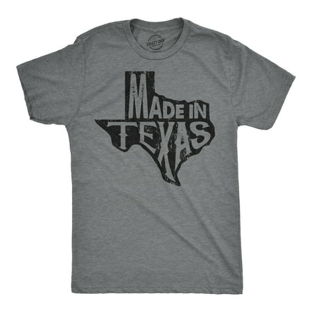 Mens Made In Texas Tshirt Funny Hometown Pride Lonestar State Tee