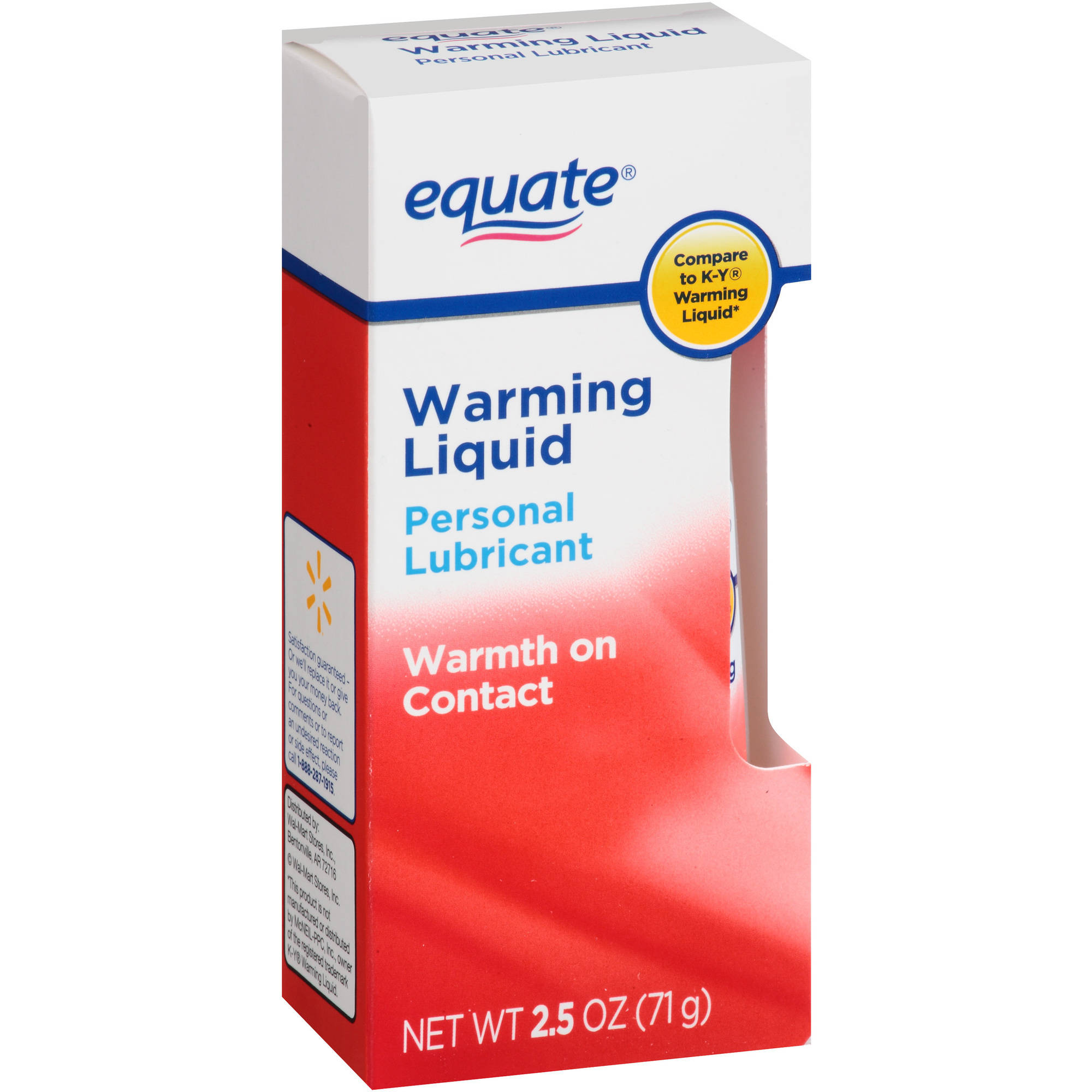 Equate Warming Liquid Personal Lubricant, 2.5 oz