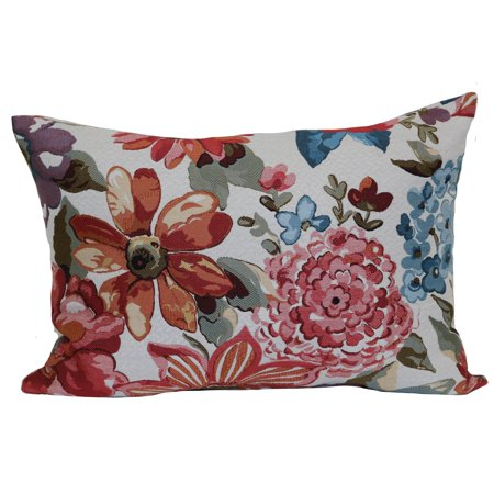 Mainstays Textured Floral Oblong Decorative Throw Pillow (Ikea Floral Throw Pillow)