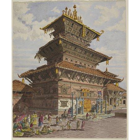 LAMINATED POSTER Bhatgaon Temple Nepal Artwork Bhairava Bhaktapur Poster Print 24 x 36 ()