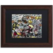 "Trademark Fine Art ""Mimosas"" Canvas Art by Dan Monteavaro Black Matte, Wood Frame"