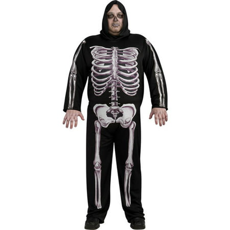 Skeleton Adult Halloween Costume - One Size