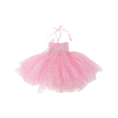 2da4f779678 Girls Pink Halter Strap Bow Tutu Flower Girl Dress 12M-7