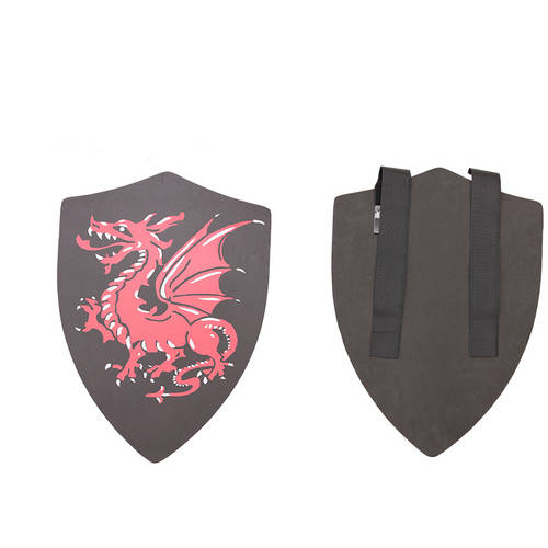 Hero's Edge Foam Shield, Black with Red Dragon, 24""