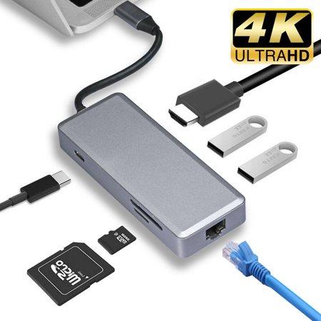 LivEditor 7 in 1 Thunderbolt 3 USB-C 3 1 HUB Type-C Adapter
