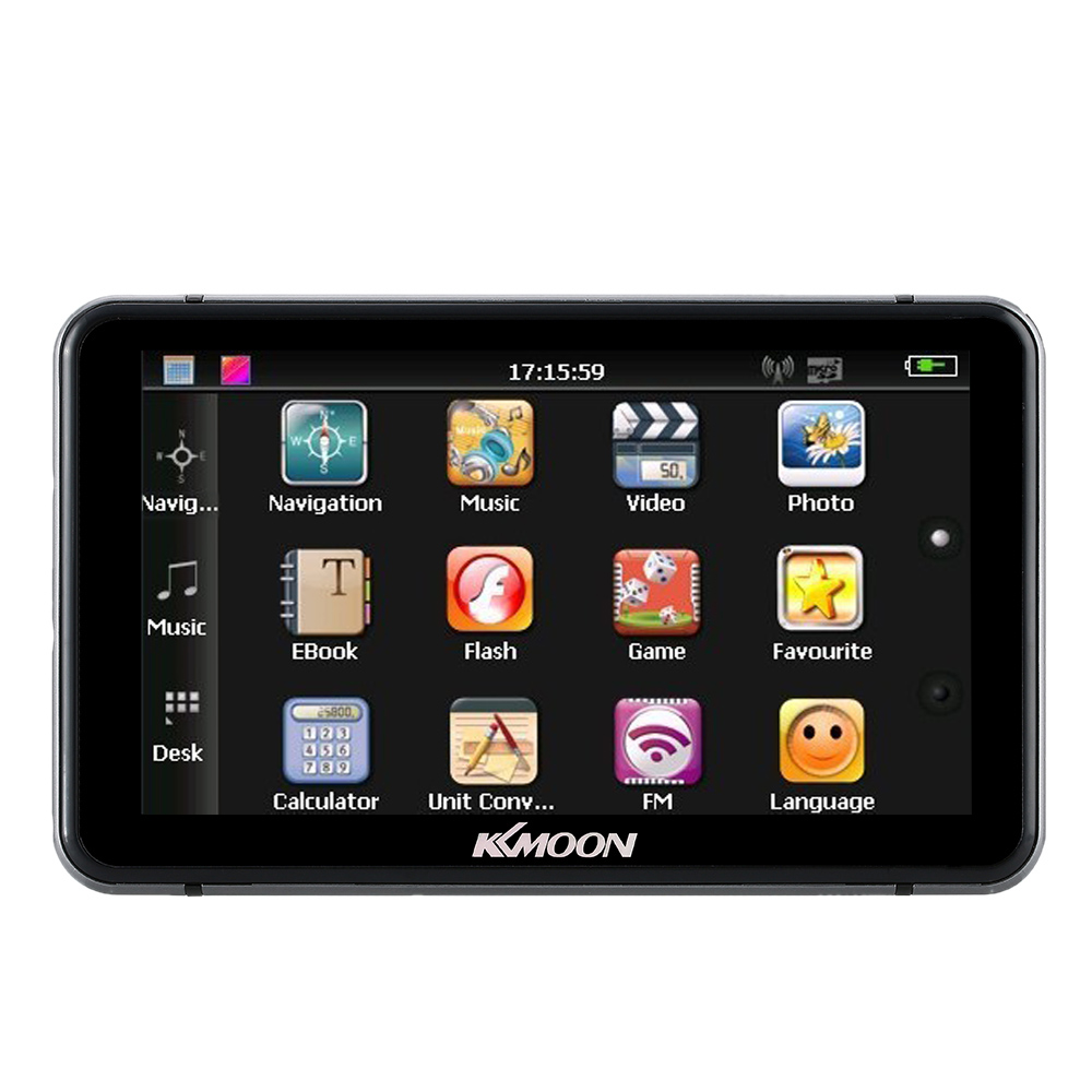"""KKmoon 7"""" HD Touch Screen Portable GPS Navigator Car Entertainment System with Handwriting Pen +Free Map"""
