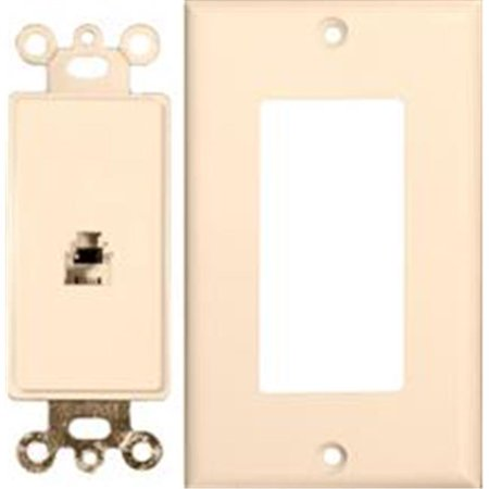 Decorator Phone Jack 2 Piece Lt. Almond (Multi Phone Jack)