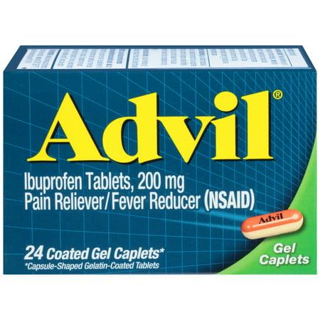 Advil Gel Caplets, 24 Ct