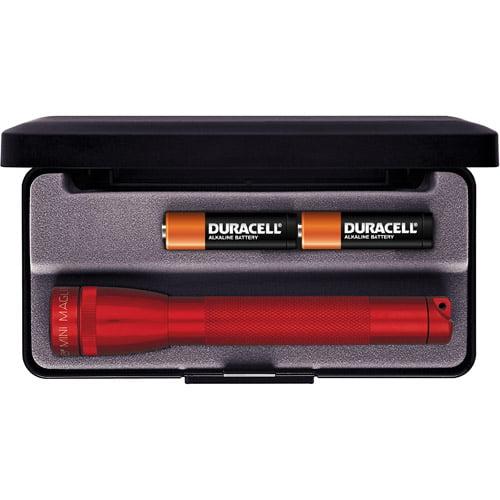Mini MagLite AA Flashlight with Presentation Box, Red