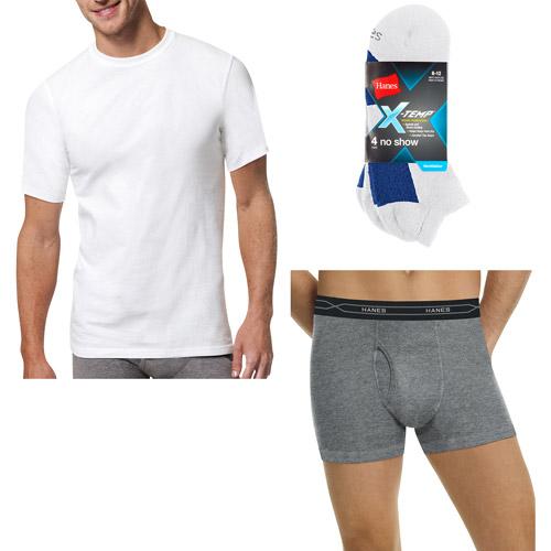 Hanes Men's X-Temp Super Value Pack: Boxer Brief, T-Shirt, and Socks
