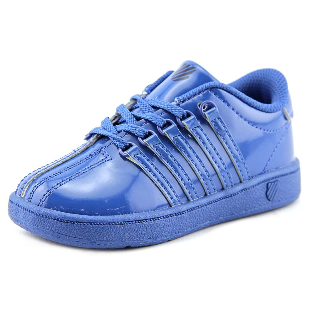 K-Swiss Classic VN Toddler Round Toe Patent Leather Blue Sneakers by K-Swiss