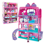 Minnie Mouse Bow-Tel Hotel, 2-Sided Playset with Lights, Sounds, and Elevator, 20 Pieces, Includes Minnie Mouse, Daisy Duck, and Snowpuff Figures, Preschool Ages 3 up by Just Play