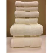 Plush 100-Percent Cotton 6-Piece Towel Set Ultra Soft and Super Absorbent