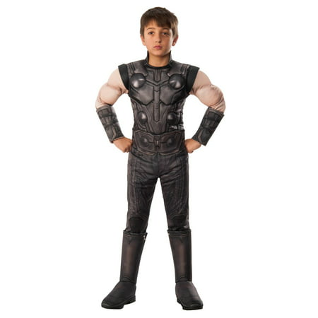 Marvel Avengers Infinity War Thor Deluxe Boys Halloween Costume - Thor Halloween Costume Amazon