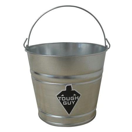 Galvanized Steel Bucket (Tough Guy 2MPE5 Silver Galvanized Steel 8 qt. Mop)