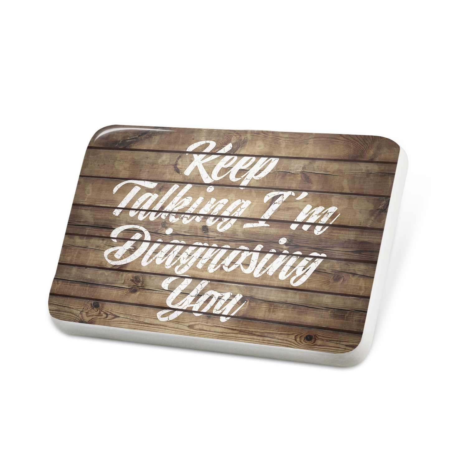 Porcelein Pin Painted Wood Keep Talking I'm Diagnosing You Lapel Badge – NEONBLOND