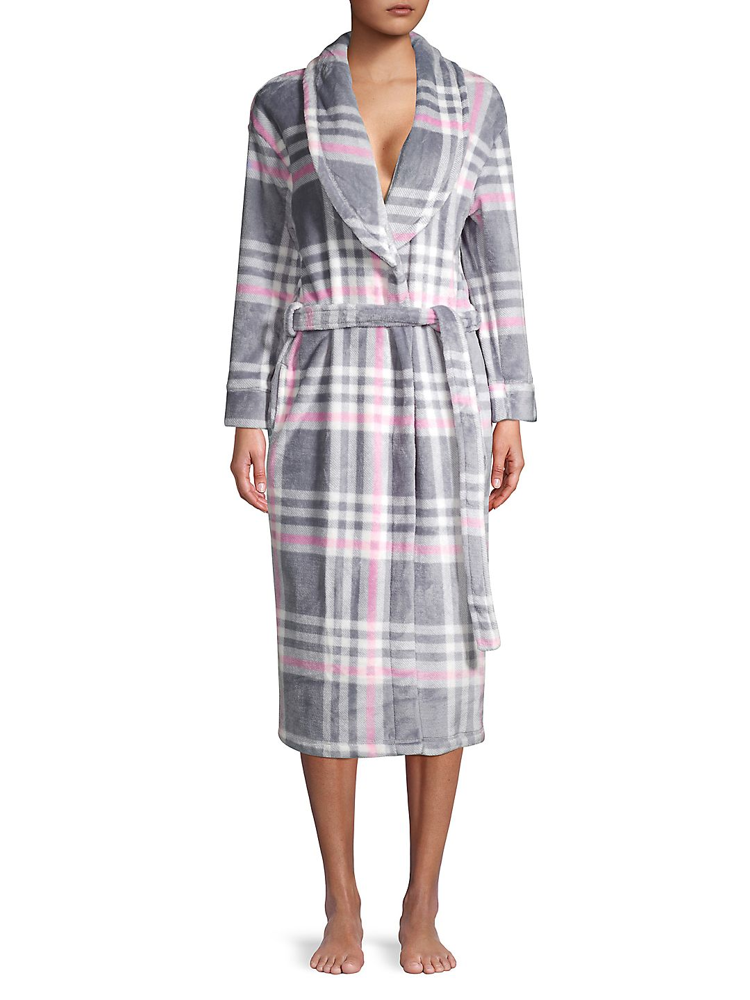 Self-Tie Collared Robe