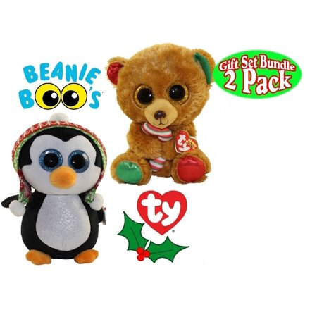 TY Beanie Boos - Bella the Bear and Penelope the Christmas Set (Glitter Eyes) Small 6