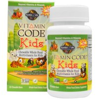 Garden of Life Vitamin Code Kids Chewable Whole Food Multivitamin for Kids Cherry Berry 30 Chewable Bears
