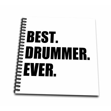 3dRose Best Drummer Ever - fun musical job pride gift for drum pro musicians - Mini Notepad, 4 by