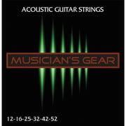 Musician's Gear Acoustic 12 80/20 Bronze Acoustic Guitar Strings