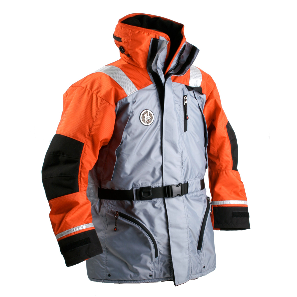 FIRST WATCH AC-1100 FLOTATION COAT MED ORANGE/GREY