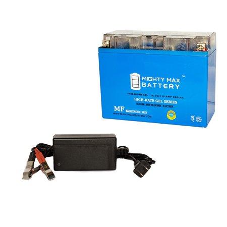ytx24hl-bsgel battery for arctic bearcat wt turbo + 12v 4amp
