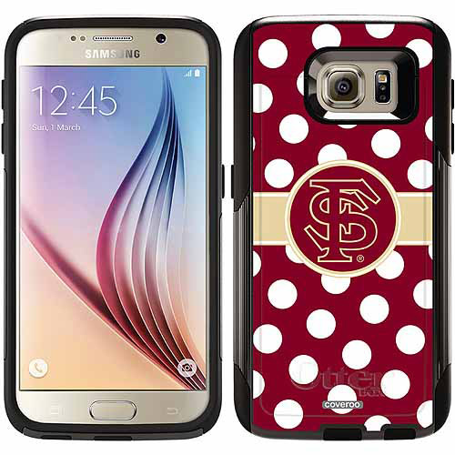 Florida State Polka Dots Design on OtterBox Commuter Series Case for Samsung Galaxy S6