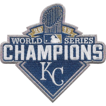 2015 Kansas City Royals MLB World Series Champions Logo Jersey Sleeve Patch