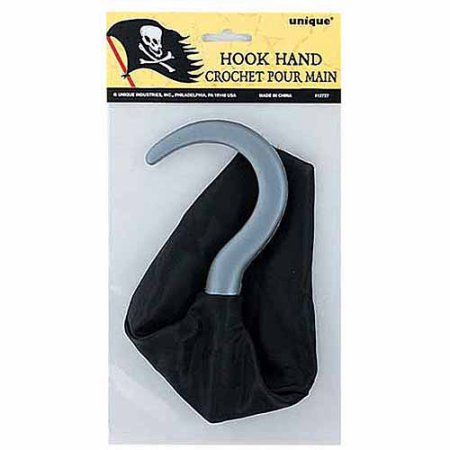 (4 Pack) Plastic Pirate Hook Hand