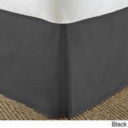 Soft Essentials Premium Pleated Bedskirt Dust Ruffle Twin - Black