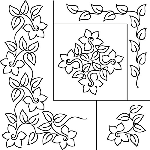 Sten Source 17-Inch by 20-Inch Quilt Stencils by Patricia Ritter, Daffodil Multi-Colored