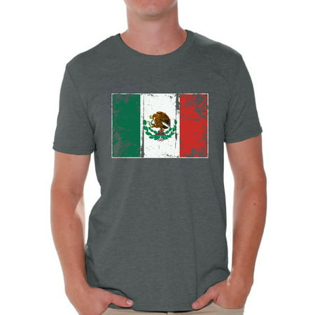 Awkward Styles Mexico Flag Shirt for Men Mexican Soccer 2018 Tshirt Gifts from Mexico Flag of Mexico Mexican Men Mexico Shirts for Men Mexico 2018 Tshirt Mexican Gifts for Him Mexican Flag Tshirt
