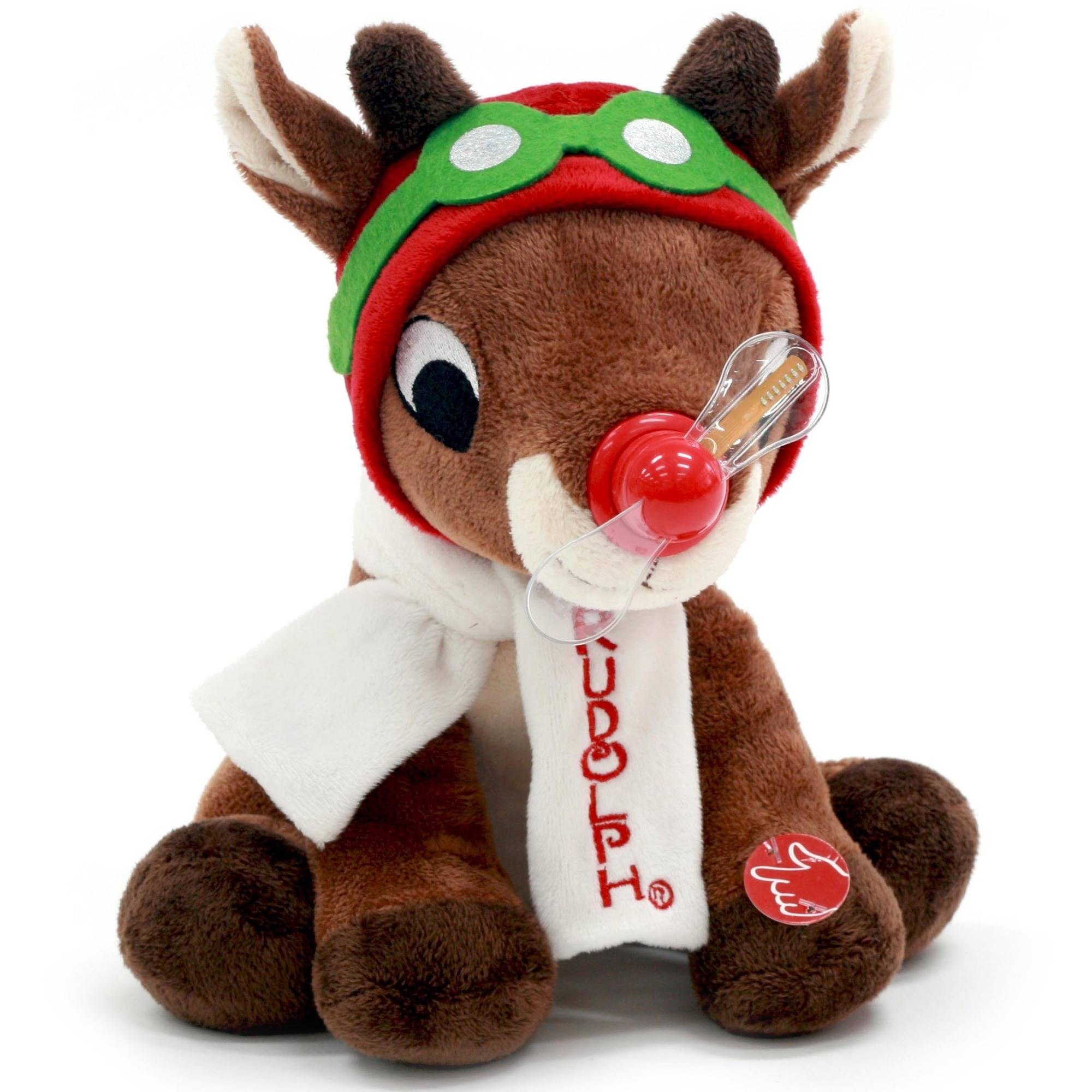 Rudolph The Red Nosed Reindeer 9 inch Animated Rudolph with Message Fan