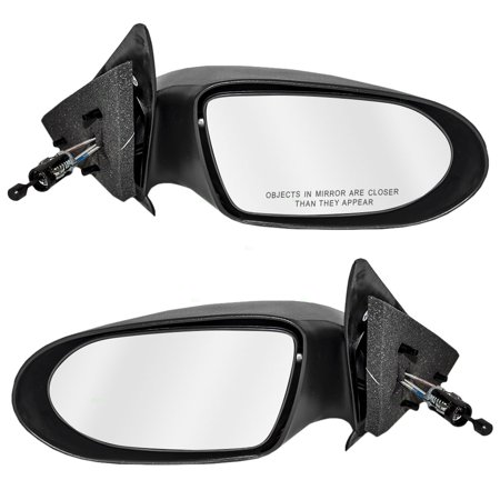 Pair Set Manual Remote Side View Mirrors Replacement for Dodge Plymouth Neon 4658889 - 1999 Plymouth Neon Mirror