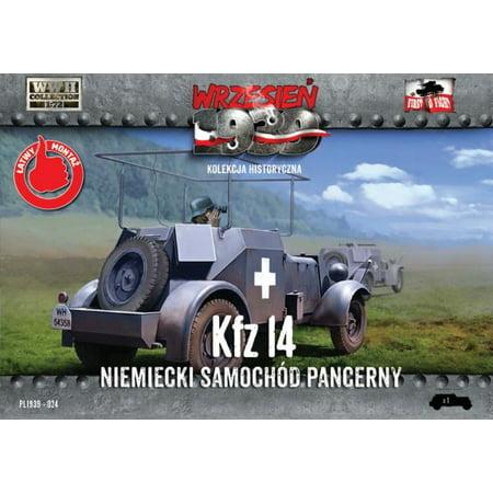 1/72 WWII Kfz14 German Armored Radio Car - image 1 de 1