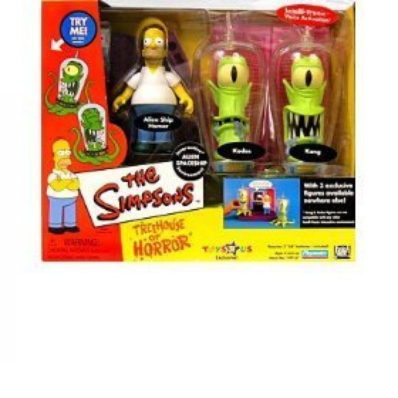 Simpsons Interactive Environment (Playset) Alien Spaceship Treehouse of Horror 2 (THOH2) TRU exclusive w 3... by