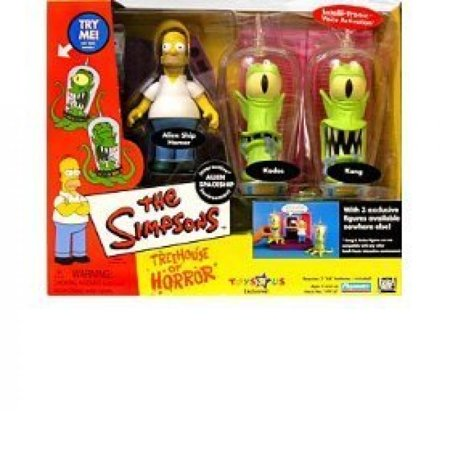 Simpsons Interactive Figure Series (Simpsons - Interactive Environment (Playset) - Alien Spaceship - Treehouse of Horror 2 (THOH2) - TRU exclusive w/3 exclusive figures (Alien Ship Homer, Kang and Kodos))