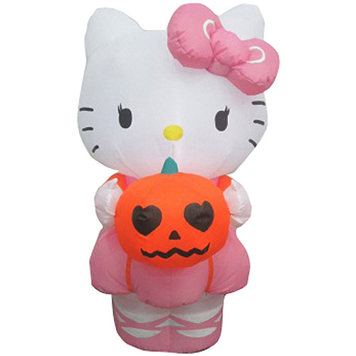 3' Airblown Inflatables Outdoor Hello Kitty with Pumpkin