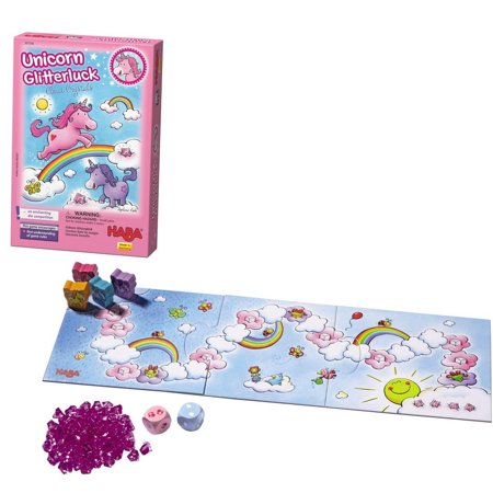 HABA Unicorn Glitterluck Cloud Crystals Board Game