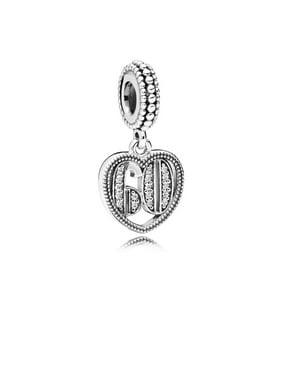 7c7309cc0 Product Image Pandora 60 Years of Love, Clear CZ silver dangle w/clear CZ  Charm 797265CZ