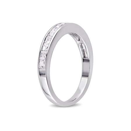 Created White Sapphire 3/4 Carat (ctw) Channel Set Wedding Anniversary Band In Sterling Silver - image 1 of 4