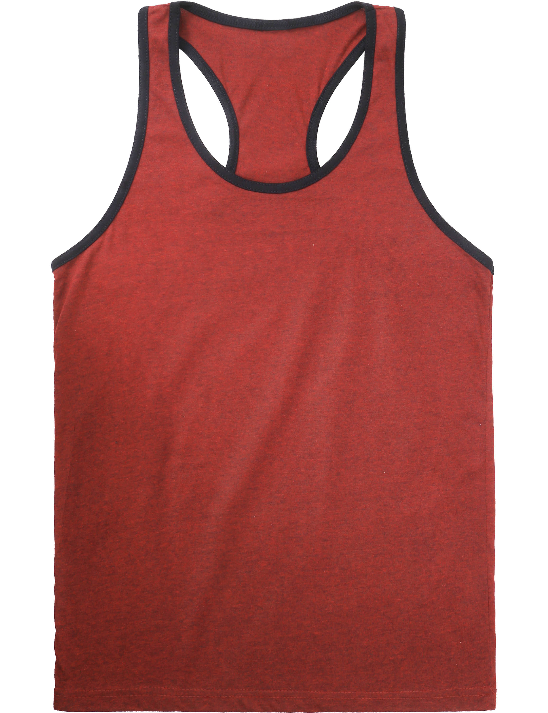 7e355ba44789a MA Mens Undershirt Racer Back Tank Top With Contrast Binding 1MAB0012 -  Walmart.com