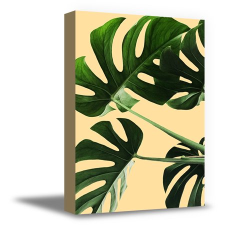 Awkward Styles Green Leaves Canvas Wall Decor for Kitchen Inspirationa