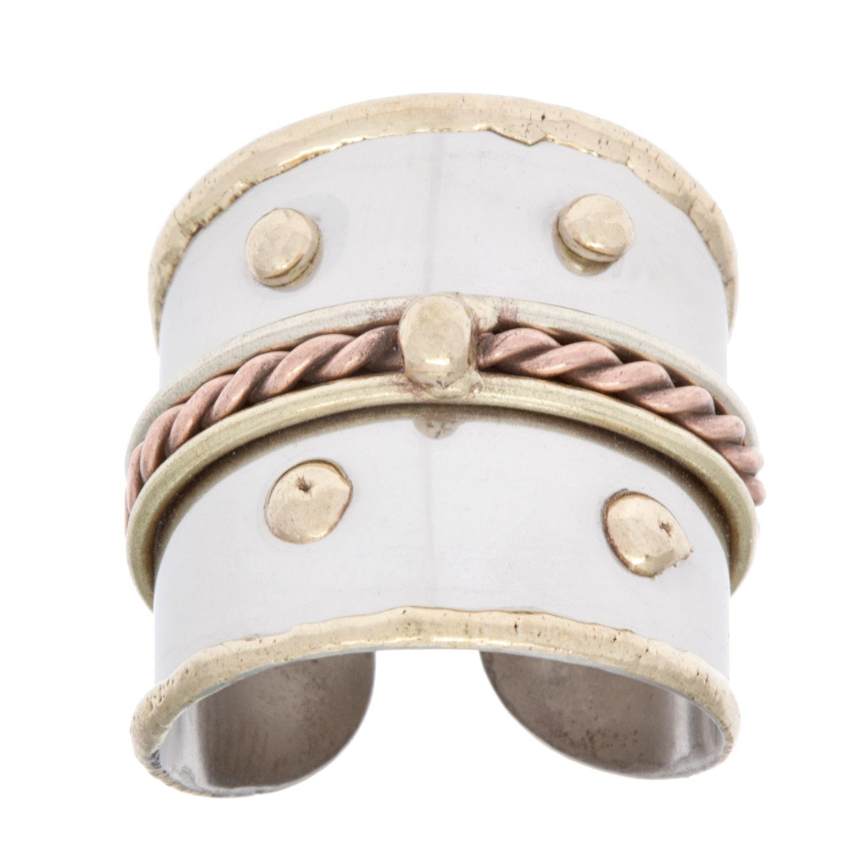 Anju Jewelry Handmade Mixed Metal Braided Fashion Ring (India)